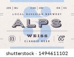 vintage minimal beer label. set ... | Shutterstock .eps vector #1494611102