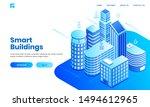 smart building concept based... | Shutterstock .eps vector #1494612965