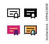certificate logo icon design in ...