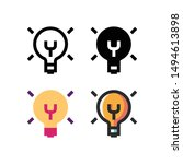 idea logo icon design in four...