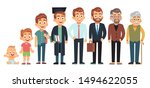 man age. male of different life ... | Shutterstock .eps vector #1494622055