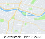 city map. town streets with... | Shutterstock .eps vector #1494622388
