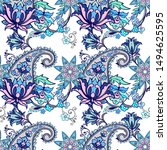 seamless pattern with fantasy...   Shutterstock .eps vector #1494625595