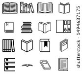 books vector icons set. book... | Shutterstock .eps vector #1494637175
