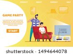 informational banner is written ... | Shutterstock .eps vector #1494644078