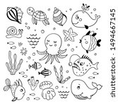 sea creatures and underwater... | Shutterstock .eps vector #1494667145