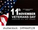 happy veterans day with... | Shutterstock . vector #1494669128
