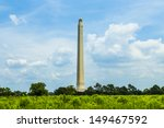 The San Jacinto Monument on a nice summer day