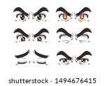 man's eyes have various... | Shutterstock .eps vector #1494676415