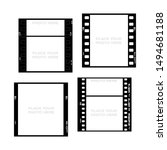 set of 35mm filmstrips. film... | Shutterstock .eps vector #1494681188