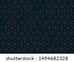 abstract color hexagon... | Shutterstock .eps vector #1494682328