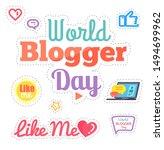 world blogger day  like me...   Shutterstock . vector #1494699962
