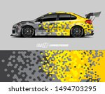 car wrap graphic. abstract... | Shutterstock .eps vector #1494703295
