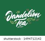 dandelion tea hand drawn... | Shutterstock .eps vector #1494712142