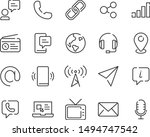 set of contact icons  phone ... | Shutterstock .eps vector #1494747542