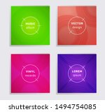 digital plate music album... | Shutterstock .eps vector #1494754085