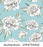 hand drawn vector seamless... | Shutterstock .eps vector #1494754442
