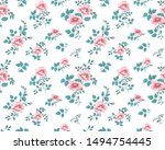 seamless pattern with beautiful ... | Shutterstock .eps vector #1494754445
