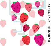 garden strawberry fruit or... | Shutterstock .eps vector #1494756758