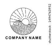 badge monoline design outdoor... | Shutterstock .eps vector #1494763952