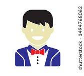 groom icon. flat illustration...   Shutterstock .eps vector #1494768062