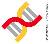 dna structure icon. flat... | Shutterstock .eps vector #1494769532