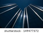 Modern steel and glass office building - stock photo