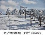Snow Covered Chairlifts After ...