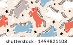 childish seamless pattern with... | Shutterstock .eps vector #1494821108