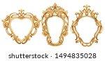 baroque luxury golden frame... | Shutterstock .eps vector #1494835028