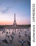 Eiffel Tower In Paris  France....