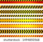set of security stripes for... | Shutterstock .eps vector #1494850568