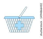 pharmacy shopping cart icon....