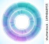 geometric frame from circles ... | Shutterstock .eps vector #1494868955