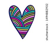 Rainbow Textile Heart Knitted...