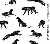 cheetah pattern and repeating... | Shutterstock .eps vector #1494884705