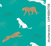 cheetah pattern and repeating... | Shutterstock .eps vector #1494884708
