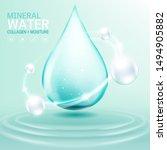 mineral water collagen or serum ... | Shutterstock .eps vector #1494905882