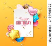 happy birthday background with... | Shutterstock .eps vector #1494908522