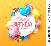 happy birthday background with... | Shutterstock .eps vector #1494908528