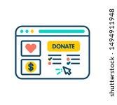 donation website line color...