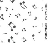 Music Note Doodle Icons Pattern....
