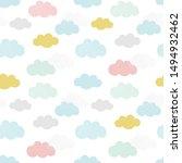 vector clouds pattern. hand... | Shutterstock .eps vector #1494932462