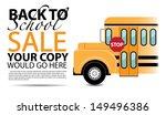 back to school sale background... | Shutterstock . vector #149496386