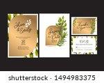wedding invitation cards  save... | Shutterstock .eps vector #1494983375