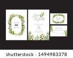 wedding invitation cards  save... | Shutterstock .eps vector #1494983378