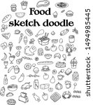 food sketch doodle icon set | Shutterstock .eps vector #1494985445
