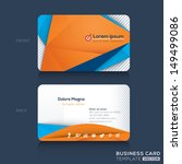 business cards template with... | Shutterstock .eps vector #149499086