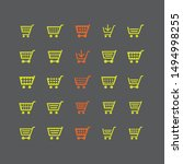 flat vector design cart and... | Shutterstock .eps vector #1494998255