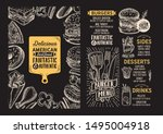 burger menu template for... | Shutterstock .eps vector #1495004918